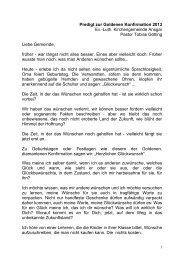Predigt goldene Konfirmation - Kirchengemeinde Ansgar in Hamburg