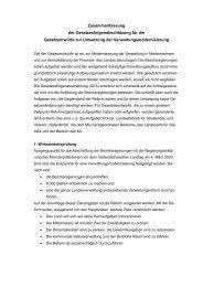 Zusammenfassung der ... - Niedersachsen