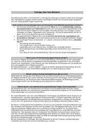 Merkblatt für Verträge über freie Mitarbeit
