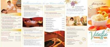Flyer Vitalia Beauty & SPA - Klosterhotel Ludwig der Bayer