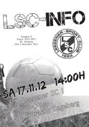 LSC Info Ausgabe 8 Saison 2012 / 2013 - Leezener SC