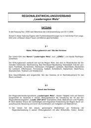Statuten zum Download - Region Wels Land