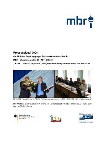 Download Pressespiegel der MBR 2008