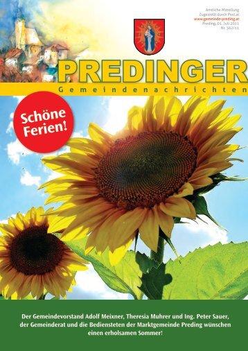 Gemeindenachrichten Nr. 362 - Juni 2011 - Preding
