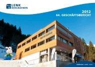 Geschäftsbericht 2012 - Lenk Bergbahnen