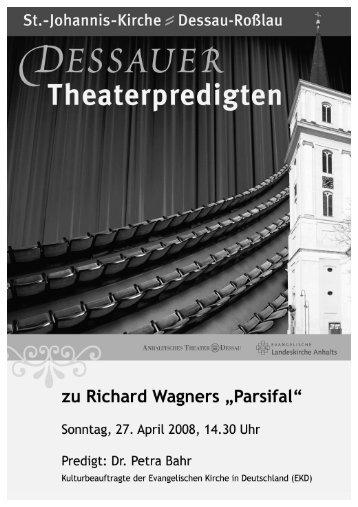 """Dr. Petra Bahr (Berlin) zu Wagners """"Parsifal"""" - Evangelische ..."""