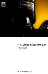 nik Color Efex Pro 2.0 - Handbuch - v.2.005-922 - Nik Software