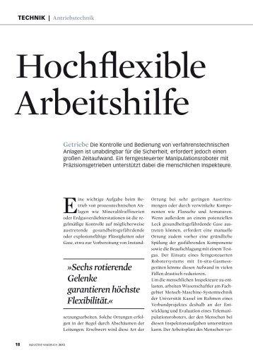 Hochflexible Arbeitshilfe - Harmonic Drive AG