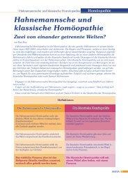 Hahnemannsche und klassische Homöopathie - Lage und Roy ...