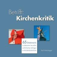 Betrifft: Kirchenkritik: 65 Statements - Diözese Graz-Seckau