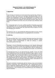 Allgemeine Verkaufs - und Lieferbedingungen ... - Schell Speiseöle