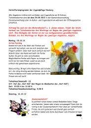 Herbstferienprogramm der Jugendpflege Neuberg Alle Angebote ...