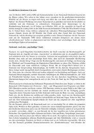 Geschichtsrevisionismus à la carte Am 24.Oktober 2009, wollen ...