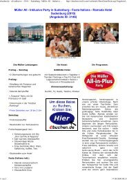 Festa Italiana - Ramada Hotel Sudenburg - ebuchen.de