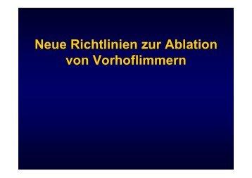 Neue Richtlinien zur Ablation von Vorhoflimmern