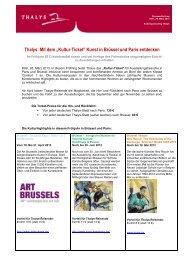 """Thalys: Mit dem """"Kultur-Ticket"""" Kunst in Brüssel und Paris entdecken"""