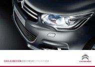 DaS ZUBehÖr Der neUe CITROËN C4 - Simonis Automobile GmbH