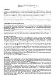Muster AGB für Werbeagenturen - DREISiNN