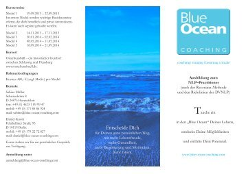 Flyer - Blue Ocean Coaching