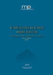 El feminicidio en el Perú según distritos - UNFPA