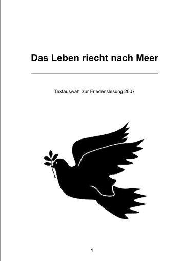 Friedenslesung Anthologie mit Illustrationen - Slov ant Gali