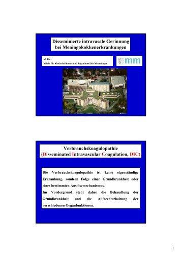Verbrauchskoagulopathie - anifs