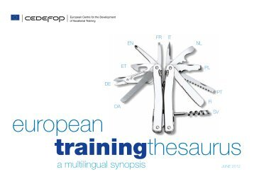 European Training Thesaurus - Université Rennes 2
