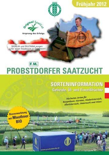 Aktuelles Frühjahrsprospekt - Probstdorfer Saatzucht