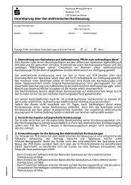 Vereinbarung über den elektronischen Kontoauszug - Sparkasse ...