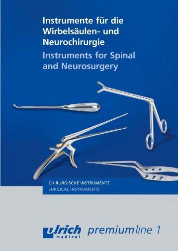 Instrumente für die Wirbelsäulen- und Neurochirurgie Instruments ...