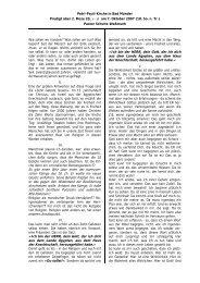 2. Mose 20, 1-17 Predigt am 7. Oktober 2007 - Evangelisch ...