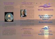 Astrologische Biographiearbeit - Zentrum Neue Horizonte