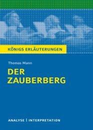 Textanalyse und Interpretation zu Thomas Mann,