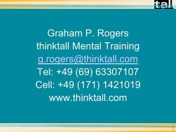 Ein glückliches Leben mit Mentaltraining - Sternstunde für ...
