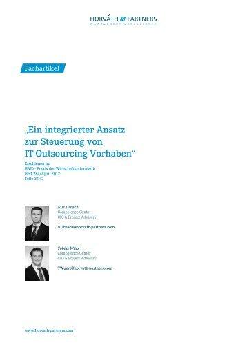 Ein integrierter Ansatz zur Steuerung von IT-Outsourcing- Vorhaben