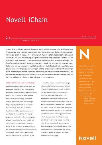Novell® ichain® - BIT Informationssysteme Gmbh