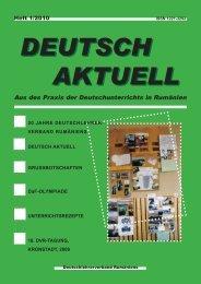 Deutsch Aktuell 2010 - Deutschlehrerverband Rumäniens