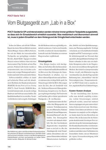 Lab in a Box - Trillium GmbH