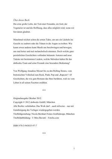 Leseprobe aus Daniel Oliver Bachmanns