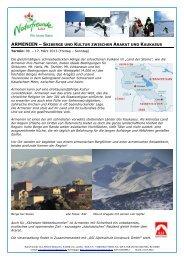 Armenien 2013 Detailprogramm - Naturfreunde