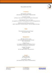 Unikorn Buffets 2011 März - Unikorn Catering