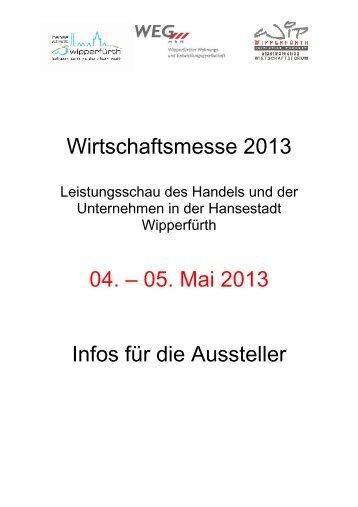 Wirtschaftsmesse 2013 04. – 05. Mai 2013 Infos für die ... - Wipperfürth