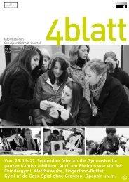 4blatt Nr. 34 - Kantonsschule Büelrain, Winterthur