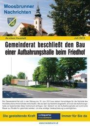 Gemeinderat beschließt den Bau einer ... - ÖVP Moosbrunn