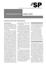 Jahresbericht 2000/2001 - SP Stadt Zürich