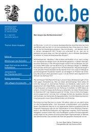 doc.be 2/2012 - Ärztegesellschaft des Kantons Bern
