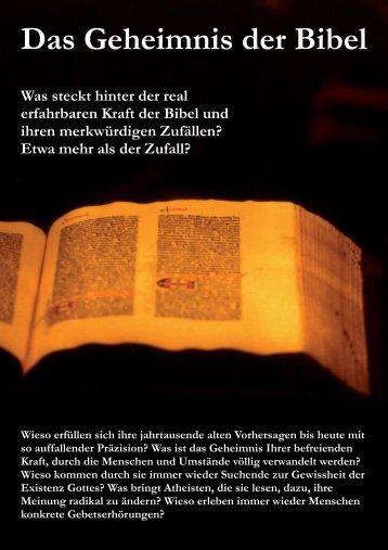 Das Geheimnis der Bibel - Biblische Lehre