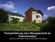 Praxiserfahrung mit Lüftungstechnik im Passivhausbau - HEA