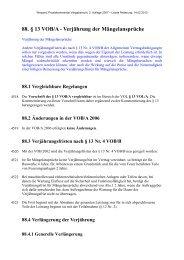88. § 13 VOB/A - Verjährung der Mängelansprüche - Oeffentliche ...