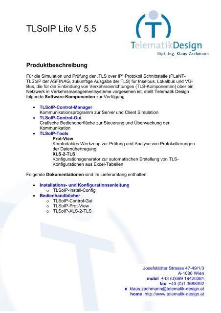 Angebot Systemstruktur Tl